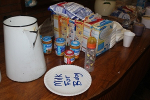 This is an images of some of the food we could serve at the temporary shelter.